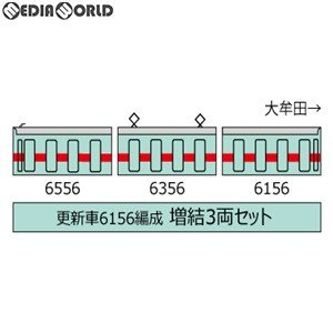 『予約安心出荷』{RWM}301547 鉄道コレクション(鉄コレ) 西日本鉄道6050形更新車 6156編成 増結3両セット Nゲージ 鉄道模型 TOMYTEC(トミーテック)(2019年9月)|media-world