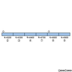 『予約安心出荷』{RWM}30364 西武6000系ステンレス車(銀前面・シンボルマークなし・車番選択式) 増結用中間車6両セット(動力無し) N GREENMAX(グリーンマックス)|media-world