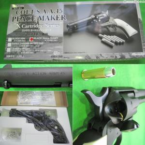 『新品即納』{MIL}マルシン工業 ガスリボルバー コルトS.A.A.45ピースメーカー・6mmBBXカートリッジシリーズ ブラック HW(18歳以上専用)(20160524)|media-world