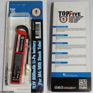 『新品即納』{MIL}G&G ARMAMENT 11.1V 800mAh Li-Po battery (リポ バッテリー) スティックミニ(G-11-079)(20171113)|media-world