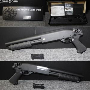 『新品即納』{MIL}S&T エアーショットガン M870 ピストルグリップ BK(ブラック/黒)(ST-SPG-08-BK) (18歳以上専用)(20150223)|media-world
