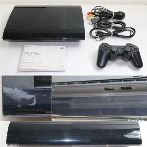 『中古即納』{訳あり}{本体}{PS3}PlayStation3 プレイステーション3 チャコール・ブラック 500GB(CECH-4300C)(20140828)
