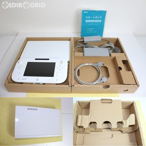 『中古即納』{訳あり}{本体}{WiiU}Wii U ベーシックセット 白/シロ BASIC SET Shiro(本体メモリー8GB)(WUP-S-WAAA)(20121208)