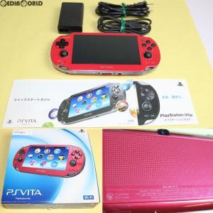 『中古即納』{訳あり}{本体}{PSVita}PlayStationVita Wi-Fiモデル コズミック・レッド(PCH-1000ZA03)(20121115)|media-world