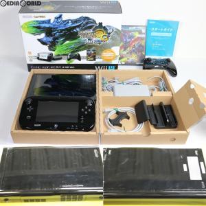 『中古即納』{訳あり}{本体}{WiiU}モンスターハンター3(トライ)G HD Ver. Wii U プレミアムセット(Kuro/クロ/黒)(WUP-S-KAFD)(20121208) media-world
