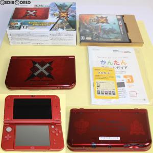 『中古即納』{訳あり}{本体}{3DS}Newニンテンドー3DS LL モンスターハンタークロス スペシャルパック(MHX)(RED-S-RCCB)(20151128)|media-world