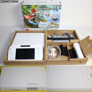 『中古即納』{訳あり}{本体}{WiiU}Wii U すぐに遊べる マリオカート8 セット シロ/shiro/白(WUP-S-WAGH)(20141113) media-world