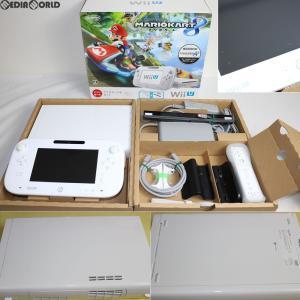『中古即納』{訳あり}{本体}{WiiU}Wii U すぐに遊べる マリオカート8 セット シロ/shiro/白(WUP-S-WAGH)(20141113)|media-world