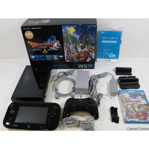 『中古即納』{訳あり}{本体}{WiiU}ドラゴンクエストX 目覚めし五つの種族 オンライン Wii Uプレミアムセット(kuro/クロ/黒)(WUP-S-KAFJ)(20130330)|media-world