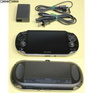 『中古即納』{訳あり}{本体}{PSVita}PlayStation Vita 3G/Wi-Fiモデル クリスタル・ブラック(PCH-1100AA01)(20111217)|media-world