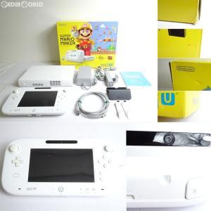 『中古即納』{訳あり}{本体}{WiiU}Wii U スーパーマリオメーカー セット(Wii Uプレミアムセット shiro/シロ/白)(WUP-S-WAHA)(20150910)