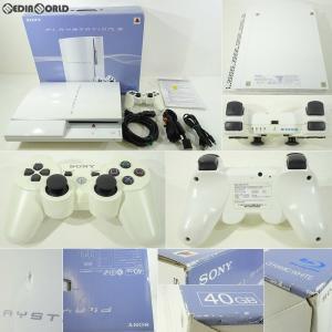 『中古即納』{訳あり}{本体}{PS3}プレイステーション3 PlayStation3 HDD40GB セラミック・ホワイト(CECH-H00CW)(20071111)|media-world