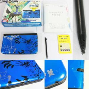 『中古即納』{訳あり}{本体}{3DS}ニンテンドー3DS LL ポケットモンスターXパック ゼルネアス・イベルタル ブルー(SPR-S-BMDS)(20131012)|media-world