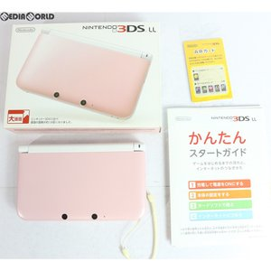 『中古即納』{訳あり}{本体}{3DS}ニンテンドー3DS LL ピンク×ホワイト(SPR-S-PAAA)(20120927)|media-world