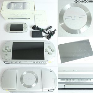 『中古即納』{訳あり}{本体}{PSP}プレイステーションポータブル シルバー(PSP-1000SV)(20061214)|media-world