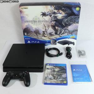『中古即納』{訳あり}{本体}{PS4}プレイステーション4 PlayStation4 MONSTER HUNTER: WORLD(モンスターハンター:ワールド) Starter Pack Black(CUHJ-10022)|media-world