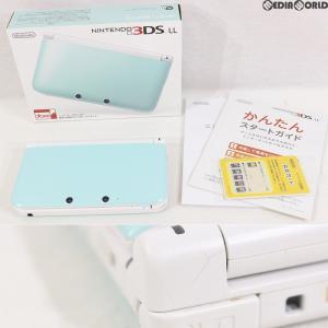 『中古即納』{訳あり}{本体}{3DS}ニンテンドー3DS LL ミントXホワイト(SPR-S-MAAA)(20130418)|media-world