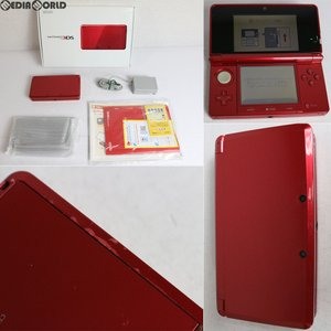 『中古即納』{訳あり}{本体}{3DS}ニンテンドー3DS メタリックレッド(CTR-S-RDBA)(20130613)|media-world