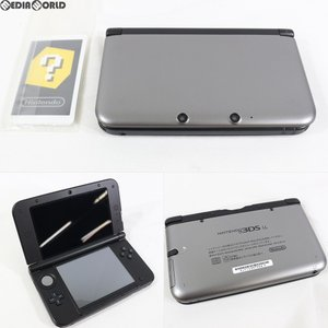 『中古即納』{訳あり}{本体}{3DS}ニンテンドー3DS LL シルバー×ブラック(SPR-S-VKAA)(20120728)|media-world