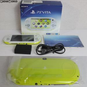 『中古即納』{訳あり}{本体}{PSVita}PlayStationVita Wi-Fiモデル ライムグリーン/ホワイト(PCH-2000ZA13)(20131010)|media-world