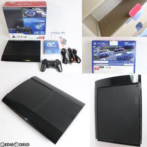 『中古即納』{訳あり}{本体}{PS3}PlayStation3 プレイステーション3 スターターパック グランツーリスモ6同梱版 チャコール・ブラック(CEJH-10026)(20131205)|media-world