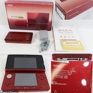 『中古即納』{訳あり}{本体}{3DS}ニンテンドー3DS フレアレッド(CTR-S-RAAA)(20110714)|media-world