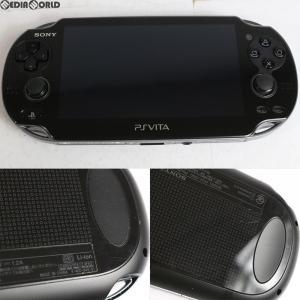 『中古即納』{訳あり}{本体}{PSVita}PlayStation Vita Wi-Fiモデル クリスタル・ブラック(PCH-1000ZA01)(20111217)|media-world