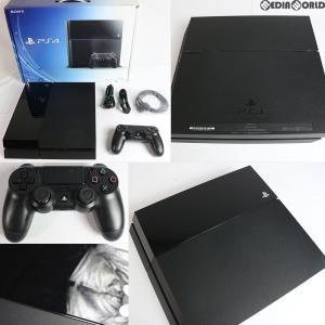 『中古即納』{訳あり}{本体}{PS4}プレイステーション4 PlayStation4 HDD500GB ジェット・ブラック(CUH-1100AB01)(2014年9月下旬)|media-world