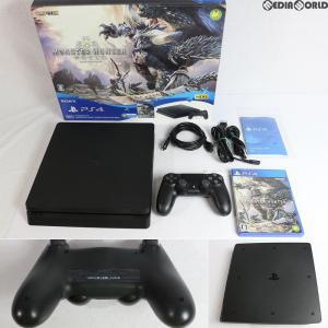 『中古即納』{訳あり}{本体}{PS4}プレイステーション4 PlayStation4 MONSTER HUNTER: WORLD Starter Pack Black(CUHJ-10022)(20180126)|media-world