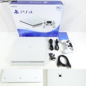 『中古即納』{訳あり}{本体}{PS4}プレイステーション4 PlayStation4 500GB グレイシャー・ホワイト(CUH-2000AB02)(20170223)|media-world