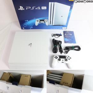 『中古即納』{訳あり}{本体}{PS4}プレイステーション4 プロ PlayStation4 Pro グレイシャー・ホワイト 1TB(CUH-7100BB02)(20180308)|media-world