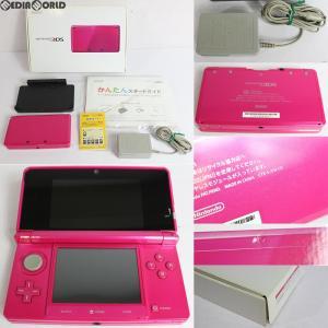 『中古即納』{訳あり}{本体}{3DS}ニンテンドー3DS グロスピンク(CTR-S-PDBA)(20130320)|media-world