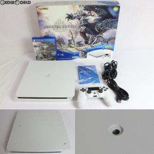 『中古即納』{訳あり}{本体}{PS4}プレイステーション4 PlayStation4 MONSTER HUNTER: WORLD(モンスターハンター:ワールド) Starter Pack White(白)(CUHJ-10023)|media-world