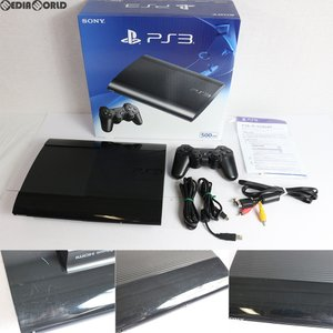 『中古即納』{訳あり}{本体}{PS3}プレイステーション3 PlayStation3 HDD500GB チャコール・ブラック(CECH-4300C)(20140828)|media-world