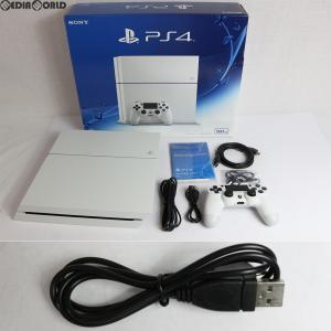 『中古即納』{訳あり}{本体}{PS4}プレイステーション4 PlayStation4 HDD500GB グレイシャー・ホワイト(CUH-1200AB02)(20150627)|media-world