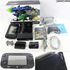 『中古即納』{訳あり}{本体}{WiiU}モンスターハンター3(トライ)G HD Ver. Wii U プレミアムセット(Kuro/クロ/黒)(WUP-S-KAFD)(20121208)|media-world