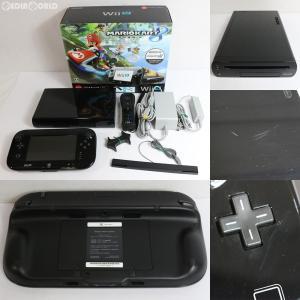 『中古即納』{訳あり}{本体}{WiiU}Wii U すぐに遊べる マリオカート8 セット クロ/kuro/黒(WUP-S-KAGH)(20141113)|media-world