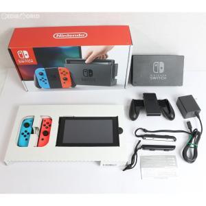 『中古即納』{訳あり}{本体}{Switch}Nintendo Switch(ニンテンドースイッチ) Joy-Con(L) ネオンブルー/(R) ネオンレッド(HAC-S-KABAA)(20170303)|media-world