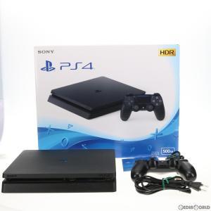 『中古即納』{訳あり}{本体}{PS4}プレイステーション4 PlayStation4 ジェット・ブラック 500GB(CUH-2100AB01)(20170724)|media-world