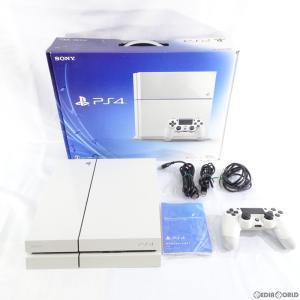 『中古即納』{訳あり}{本体}{PS4}プレイステーション4 PlayStation4 HDD500GB グレイシャー・ホワイト(CUH-1100AB02)(20141009)|media-world