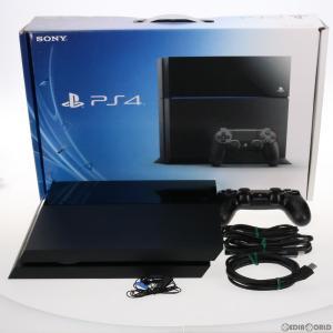 『中古即納』{訳あり}{本体}{PS4}プレイステーション4 PlayStation4 HDD500GB ジェット・ブラック(CUH-1000AB01)(20140222)|media-world