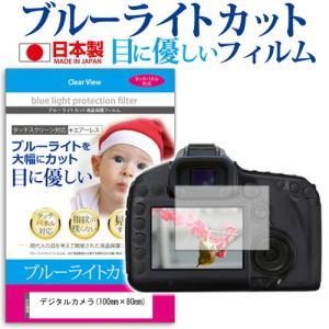 デジタルカメラ(100mm×80mm) ブルーライトカット 反射防止 指紋防止 気泡レス 抗菌 液晶保護フィルム|mediacover