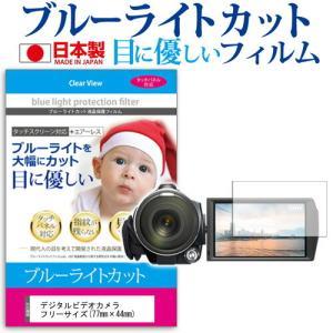 デジタルビデオカメラ フリーサイズ(77mm×44mm) ブルーライトカット 反射防止 指紋防止 気泡レス 抗菌 液晶保護フィルム|mediacover