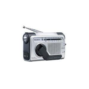SONY 手回し充電FM/AMポータブルラジオ B03 シルバー ICF-B03/S|mediaearth