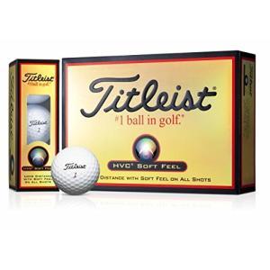 TITLEIST(タイトリスト) ゴルフボール HVC SOFT FEEL 2ピース 12個入り ホワイト 1HVSF-J mediaearth