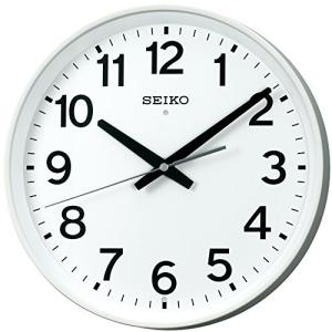 セイコー クロック 掛け時計 電波 アナログ オフィスタイプ 白 KX317W SEIKO|mediaearth