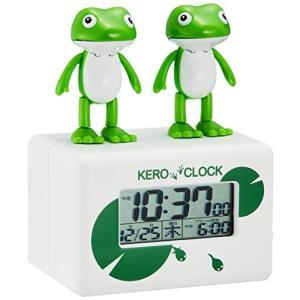 目覚まし時計 デジタル時計 ケロクロック2 リズム時計 8RDA46RH03|mediaearth