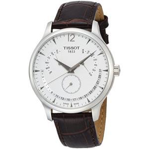 [ティソ] TISSOT 腕時計 トラディション パーペチュアルカレンダー クォーツ シルバー文字盤 レザー T0636371603700 メンズ 【|mediaearth