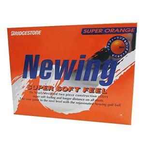 BRIDGESTONE(ブリヂストン) ゴルフボール Newing SUPER SOFT FEEL 1ダース(12個入り) スーパーオレンジ NQOX mediaearth