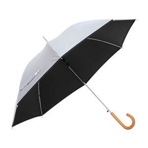 傘と日傘専門店リーベン 日傘 ブラック 60cm×8本骨 リーベンひんやり傘 無地ジャンプ傘 遮熱 遮光 LIEBEN-0102|mediaearth
